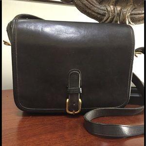 Vintage Coach crossbody bag in black